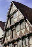Medeltida facade på Celle, lägre Sachsen Fotografering för Bildbyråer