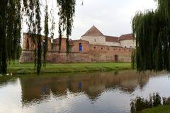 Medeltida Fagaras fästning, Rumänien Arkivfoton