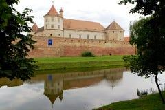Medeltida Fagaras fästning, Rumänien Royaltyfri Fotografi