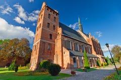 Medeltida Fara kyrka i Swiecie Arkivfoton