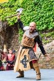 Medeltida festival på den Cochem slotten Arkivbilder