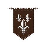 medeltida flagga Fotografering för Bildbyråer