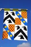 Medeltida flagga, Tewkesbury Fotografering för Bildbyråer