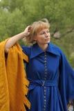 medeltida flicka Royaltyfria Bilder