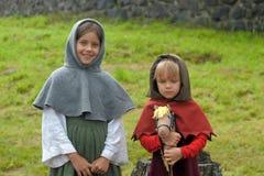 Medeltida flicka två Royaltyfri Fotografi