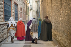 medeltida folk Arkivfoton