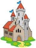 medeltida forntida slott Arkivfoto