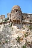 Medeltida Fortezza eller slott, i Rethymnon (Rethymno), Kreta Isl Royaltyfri Foto