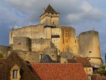 medeltida france för castelnaudchapellefästning la Royaltyfria Bilder