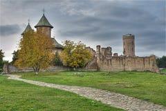 medeltida fästning Royaltyfria Bilder