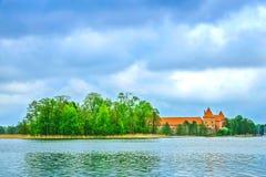 Medeltida gammal slott i Trakai, Litauen Arkivbild