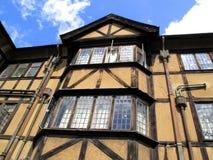 medeltida gammalt för engelskt hus Fotografering för Bildbyråer