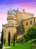 medeltida gammalt för slott Olite Royaltyfri Foto