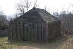 Medeltida gammalt trähus - Royaltyfri Bild