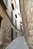 Medeltida gata Royaltyfri Fotografi