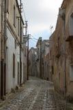 Medeltida gata av Erice Royaltyfri Fotografi