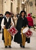medeltida gata för handelsresande royaltyfria bilder
