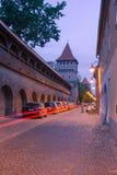 Medeltida gata i Sibiu Royaltyfri Foto