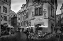 Medeltida gator, Prague Royaltyfri Fotografi