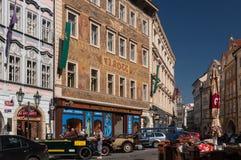 Medeltida gator, Prague Arkivbild
