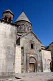 Medeltida Geghard eller Ayrivank vaggar kloster, Armenien Arkivbild