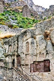 Medeltida geghardkloster i Armenien Fotografering för Bildbyråer