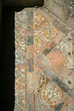 Medeltida golvtegelplattor Arkivbild