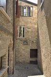 medeltida gränd Arkivbild