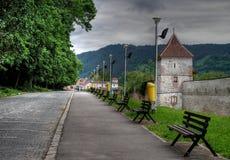 medeltida gränd Fotografering för Bildbyråer