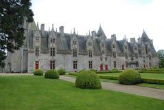 medeltida härligt slott arkivbild