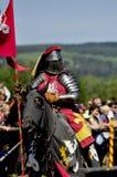 medeltida hästryggriddare Royaltyfria Bilder