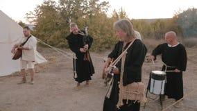 Medeltida helhet för kapacitet av munkar Templars lager videofilmer