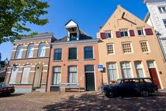 Medeltida holländsk gata Arkivbilder