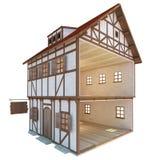 Medeltida hus Stock Illustrationer