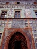 medeltida hus Arkivfoton