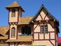 medeltida hus för 5 detalj Arkivfoto