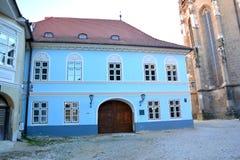 Medeltida hus i Brasov Royaltyfria Bilder