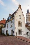 Medeltida hus i den holländska staden Amersfoort Arkivfoto