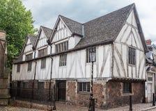 Medeltida hus Leicester England Arkivfoto