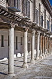 Medeltida hus, Spanien Arkivbilder