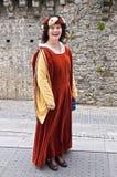 medeltida irländsk lady Royaltyfri Fotografi