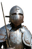 medeltida isolerad riddare Arkivbilder