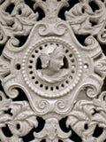 Medeltida järndetalj för fransk dörr Arkivfoto
