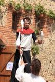 medeltida jonglörer Royaltyfri Fotografi