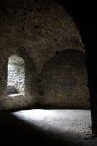 medeltida källareinsida Royaltyfri Fotografi