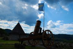 medeltida kanon royaltyfri bild