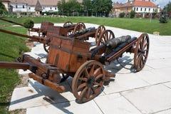 Medeltida kanoner arkivbild