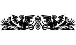 Medeltida keltisk modell royaltyfri illustrationer