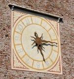 medeltida klocka Arkivfoton