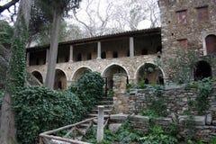 medeltida kloster Arkivbild